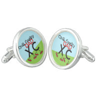 Cross Country Dad Cufflinks - Cross Country Parent