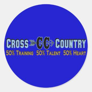 Cross Country Design Classic Round Sticker