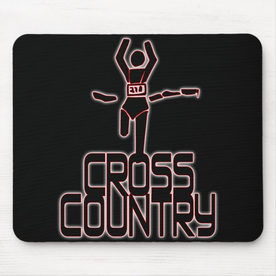 CROSS COUNTRY FINISH LINE RUNNER MOUSE PAD