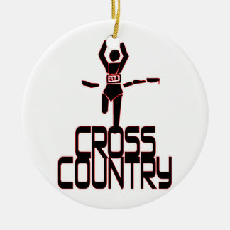 CROSS COUNTRY FINISH LINE RUNNER ORNAMENT