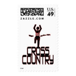 CROSS COUNTRY FINISH LINE RUNNER POSTAGE STAMP