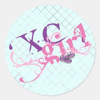 Cross Country Girl Classic Round Sticker