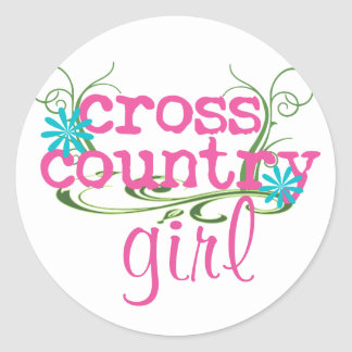 Cross Country Girl PINK Classic Round Sticker
