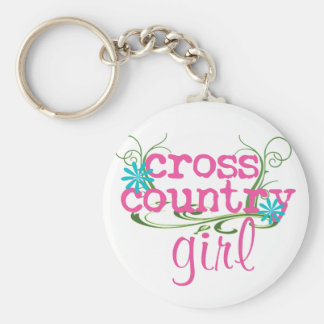 Cross Country Girl PINK Keychain