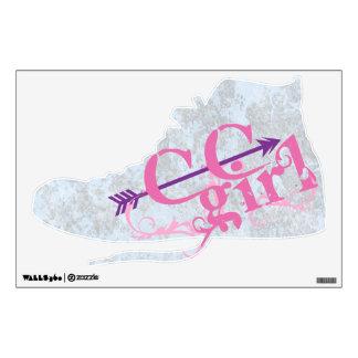 Cross Country Girl Wall Sticker