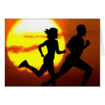 CROSS COUNTRY - GOTTA RUN - STAMP - SUNSET CARD