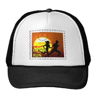 CROSS COUNTRY - GOTTA RUN - STAMP - SUNSET TRUCKER HAT