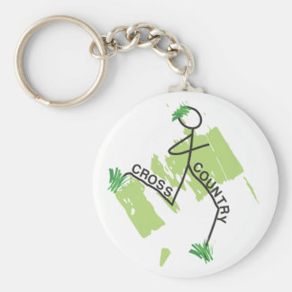 Cross Country Grass Runner Keychain