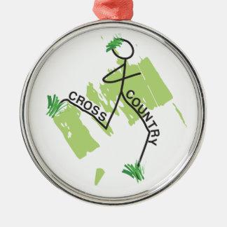Cross Country Grass Runner Metal Ornament