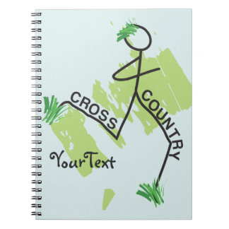 Cross Country Grass Runner Spiral Note Books