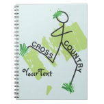 Cross Country Grass Runner Spiral Note Book