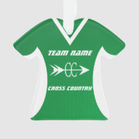 Cross Country Green Sports Jersey Ornament