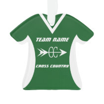 Cross Country Green Sports Jersey Photo Ornament