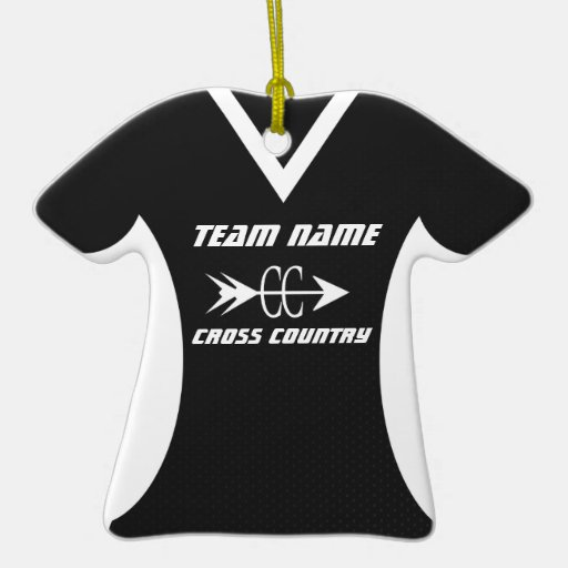 Cross Country Jersey Black Ceramic Ornament