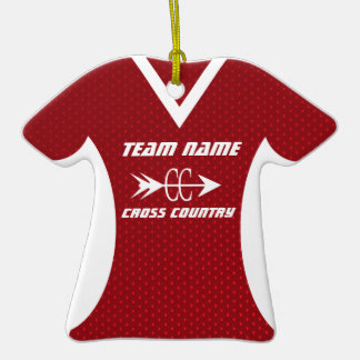 Cross Country Jersey Christmas Ornament