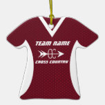 Cross Country Jersey Maroon Christmas Ornaments