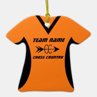 Cross Country Jersey Orange Black Ornaments