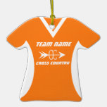 Cross Country Jersey Orange Ornament