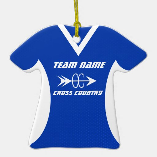 Cross Country Jersey Christmas Tree Ornaments