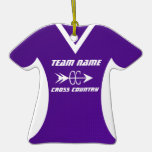 Cross Country Jersey Purple Christmas Ornaments