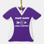 Cross Country Jersey Purple Ornaments