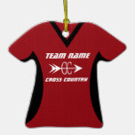 Cross Country Jersey Red Black Ornament
