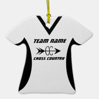 Cross Country Jersey with Photo Christmas Ornament