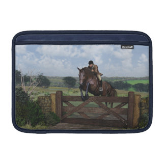 Cross Country - Jumping Horse Macbook Air Sleeve