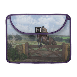 Cross Country - Jumping Horse Macbook Pro Sleeve