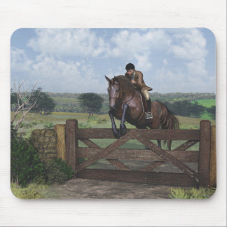 Cross Country - Jumping Horse Mouse Pad