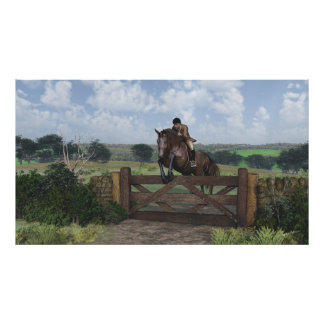 Cross Country - Jumping Horse Print
