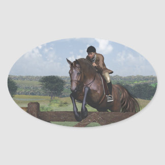 Cross Country - Jumping Horse Sticker