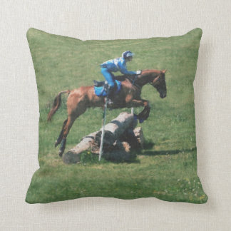 Cross country jumping throw pillow