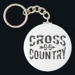 "Cross Country Keychain<br><div class=""desc"">Cross Country Grunge style design.</div>"