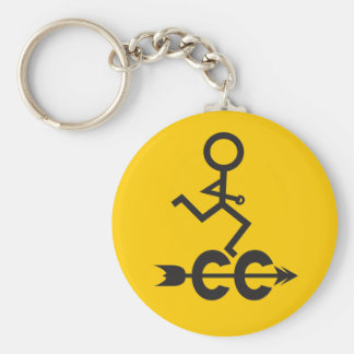 Cross Country Basic Round Button Keychain