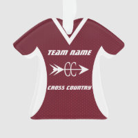 Cross Country Maroon Sports Jersey Photo Ornament