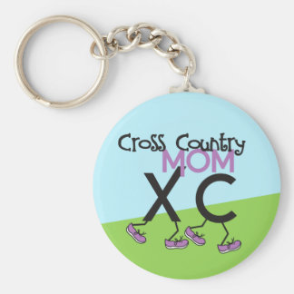 Cross Country Mom - Cross Country Runner Mom Basic Round Button Keychain