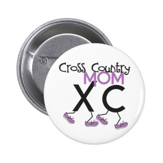 Cross Country Mom - Cross Country Runner Mom Pinback Buttons