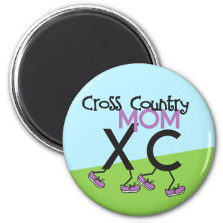 Cross Country Mom - Cross Country Runner Mom 2 Inch Round Magnet