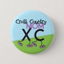 Cross Country Mom - Cross Country Runner Mom Pinback Button
