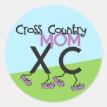 Cross Country Mom - Cross Country Runner Mom Classic Round Sticker