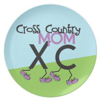Cross Country Mom XC Party Plates
