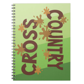 Cross Country Mud and Grass Spiral Notebook