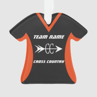 Cross Country Orange Black Sports Jersey Ornament