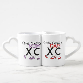 Cross Country Parents - XC Running Mom and Dad Coffee Mug Set