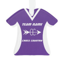 Cross Country Purple Sports Jersey Photo Ornament