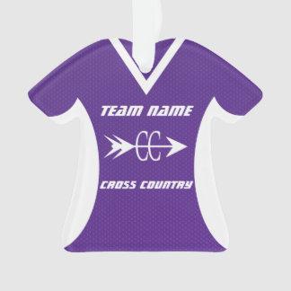 Cross Country Purple Sports Jersey Photo Ornament