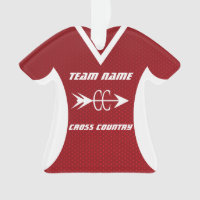 Cross Country Red Sports Jersey Ornament