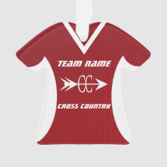 Cross Country Red Sports Jersey Ornament at Zazzle