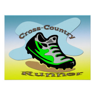 Cross-Country Runner 24x18 Poster